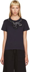 Marc Jacobs Navy Sequin Bow T Shirt
