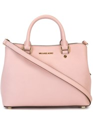 Michael Michael Kors Medium 'Savannah' Satchel Pink And Purple