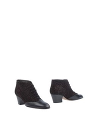 Michel Perry Ankle Boots Dark Brown
