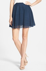 Amour Vert 'Lota' Organic Cotton Burnout Skirt Navy Burnout