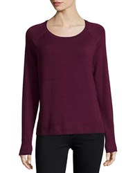 Lord And Taylor Knit Crewneck Sweater Eggplant