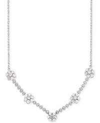 Wrapped In Love Diamond Flower Cluster Necklace 1 Ct. T.W. In 14K White Gold