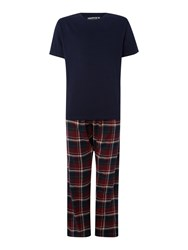 Howick Check Pyjama Set Burgundy