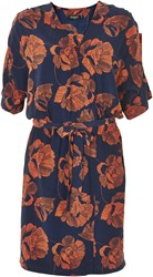 Soaked In Luxury Floral Wrap Dress Navy