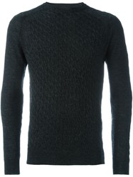 Lanvin Cable Knit Jumper Grey