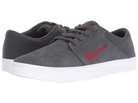 Nike Portmore Anthracite Team Red Men's Skate Shoes Gray