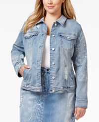 Nanette By Nanette Lepore Plus Size Tall Tales Denim Origami Wash Jacket Only At Macy's