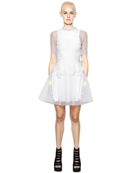 House Of Matching Colours Transparent Open Back Organza Dress White