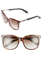 Kate Spade Women's New York Julieanna 54Mm Sunglasses Dark Havana Gold Dark Havana Gold
