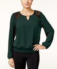 Thalia Sodi Lace Trim Hardware Top Only At Macy's Dark Forest