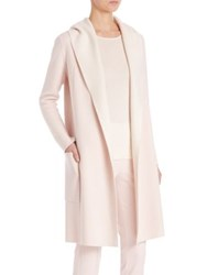 Akris Cashmere Bicolor Reversible Knit Coat Starling Bluejay Flamingo Pelican