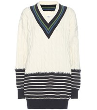 Maison Martin Margiela Wool Sweater Dress White