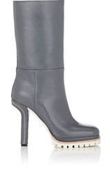 Marni Women's Sculpted Wedge Mid Calf Boots Dark Grey