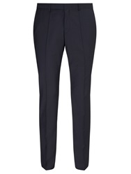 Hugo Huge Genius Virgin Wool Slim Fit Suit Trousers Dark Blue