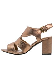Evans Jackie Sandals Metallic Gold