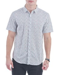 Sovereign Code Miguel Button Front Shirt White