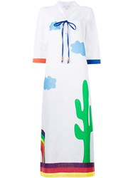 Mira Mikati 'Sleep All Over' Kaftan Dress White