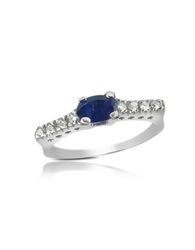 Incanto Royale Sapphire And Diamond 18K Gold Ring White Gold