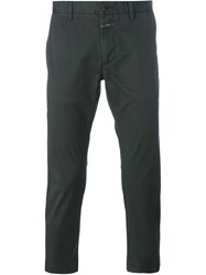 Closed Slim Fit Trousers Green
