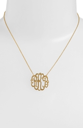 Argentovivo Personalized Small 3 Initial Letter Monogram Necklace Nordstrom Exclusive Gold