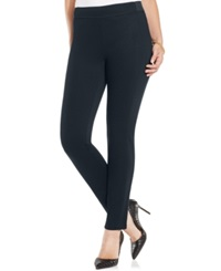 Charter Club Pull On Skinny Twill Pants Only At Macy's Deepest Navy