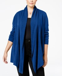 Karen Scott Cable Knit Pocket Cardigan Only At Macy's Deep Pacific