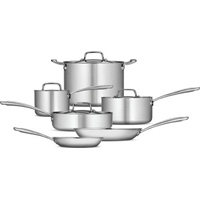 Tramontina 10 Piece Tri Ply Clad Cookware Set Stainless Steel Walmart.Com