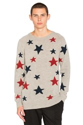 Scotch And Soda Star Pattern Crewneck Sweater Grey