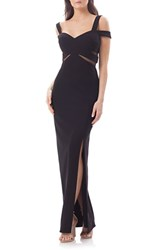 Js Collections Women's Cold Shoulder Gown