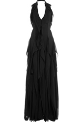 Emilio Pucci Floor Length Silk Gown Black