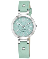 Nine West Women's Mint Leather Strap Watch 32Mm Nw 1713Mtmt Silver