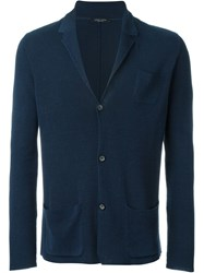 Roberto Collina Knit Blazer Blue