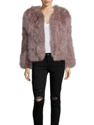 Pello Bello Fluffy Feather Jacket Coral Pink