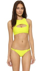 Mikoh Marrakesh Crop Bikini Top Lilikoi