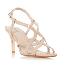 Linea Minelli Strappy Heeled Sandals Nude