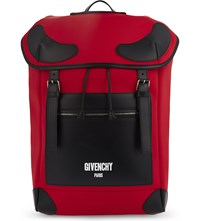 Givenchy Rider Neoprene Backpack Red