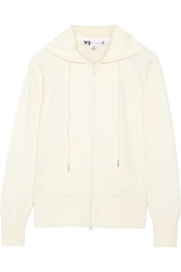 Y 3 Cotton Jersey Hooded Top