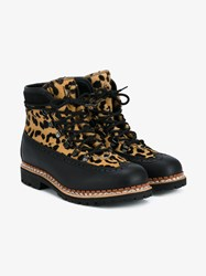 Tabitha Simmons Bexley Calf Hair And Leather Hiking Books Black Brown Leopard Almond