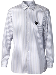 Comme Des Garcons Play Striped Shirt White