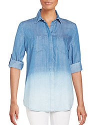 Beach Lunch Lounge Roll Tab Shirt Ombre Blue