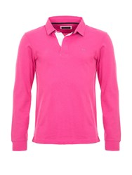 Eden Park Cotton Rugby Shirt Pink