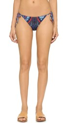 Cynthia Rowley String Bikini Bottoms Navy Paisley