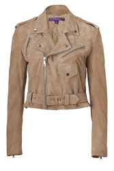 Ralph Lauren Collection Taupe Suede Jacket Brown