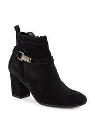 Paul Green High Heel Suede Booties Black