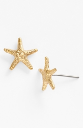 Ki Ele 'Manini' Starfish Stud Earrings Gold