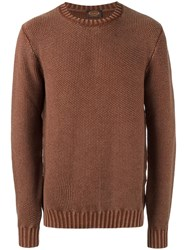Tod's Marled Effect Jumper Nude Neutrals