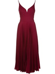 Nicole Miller Pleated Cami Dress Red