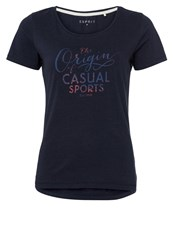 Esprit Sports Print Tshirt Navy Blue