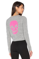360 Sweater Trova Cashmere Skull Gray