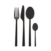 Cutipol Rondo Black 24 Piece Cutlery Set
